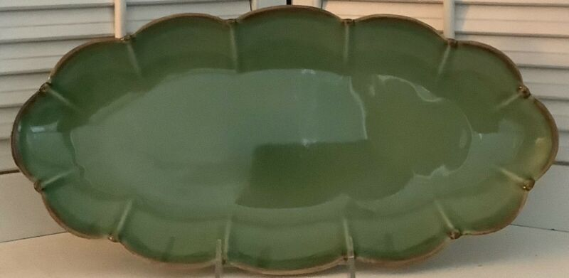 "Southern Living at Home ""Verde"" 16"" Wide Tray Dish, Perfect"