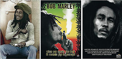 Large Poster Set - Bob Marley Poster Prints Set of 3 Individual Large 35x23 inch Posters