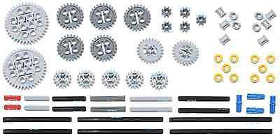 LEGO 61pc gear axle SET Technic (Mindstorms nxt ev3 motor power functions pack) - Lego Gear Set