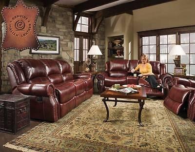 Sofa and Glider Loveseat Reclining-Corinthian-100% Genuine I
