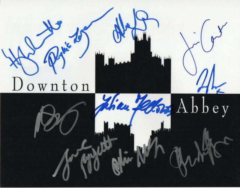 DOWNTON ABBEY CAST SIGNED AUTOGRAPHED 11x14 PHOTO LILY JAMES, HUGH BONNEVILLE +