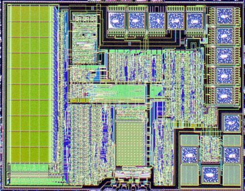 400pcs Alpha Micro AM5AC0052 4bit voice RISC MCU silicon dies wafer