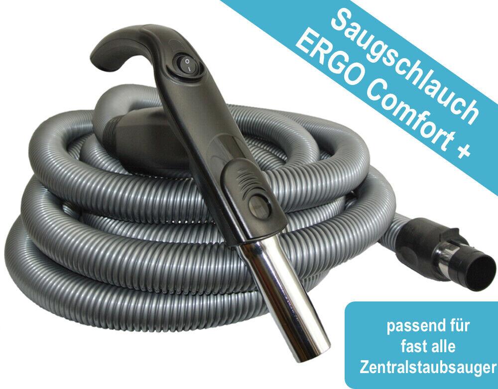 Zentralstaubsauger - Saugschlauch ERGO Comfort+ On/Off - div Längen 6-15m - 35mm