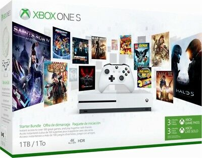 Xbox One S Starter Bundle  1Tb  3 Month Xbox Live And Game Pass
