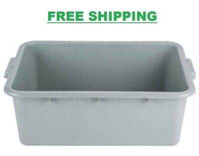 12 Pack 20 X 15 X 7 Gray Storage Plastic Dishwasher Restaurant Food Bus Tub
