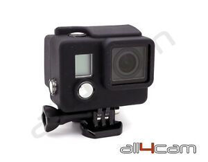 GoPro-Hero-3-Silicona-Funda-Protectora-Dirt-a-prueba-carcasa-Negro-Tapa-de-goma