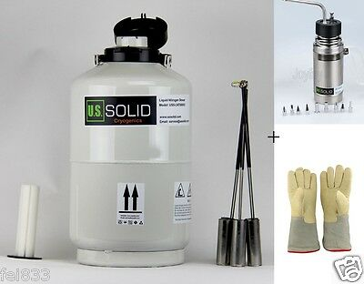 10 L Liquid Nitrogen Tank Ln2 Dewar 0.5 L Sprayer 35cm 13.8 Cryogenic Glove
