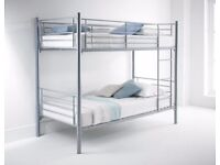 FAST - ORDER NOW SINGLE TOP SINGLE BOTTOM SPLITIBLE SUPER METAL BUNK BED SAME DAY EXPRESS DELIVERY