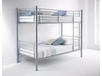 【BRAND NEW】SILVER METAL BUNK BED *** HIGH QUALITY SINGLE 3FT CONVERT IN TO TWO SINGLE BEDS