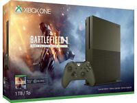 SEALED XBOX ONE S (1TB) BATTLEFIELD 1 SPECIAL EDITION MILITARY GREEN
