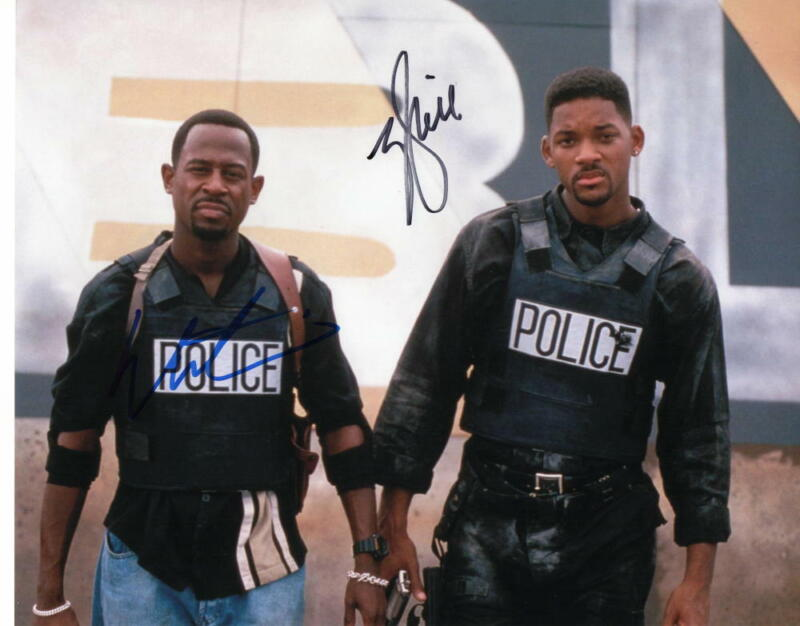 WILL SMITH & MARTIN LAWRENCE SIGNED AUTOGRAPH 11X14 PHOTO - BAD BOYS FOR LIFE, 2