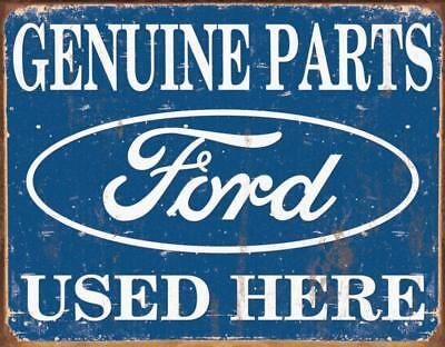 - Ford Parts Vintage Retro Tin Metal Sign 13 x 16in