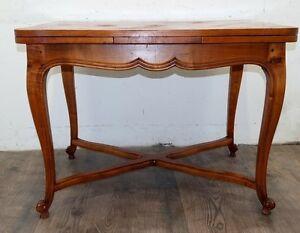 Piccolo tavolo allungabile rocaille 1900 in ciliegio for Piccolo in francese