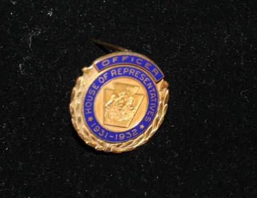 OFFICERS PIN FROM PA HOUSE OF REPRESENTATIVES 1931-1932 FRANK J. TURANO