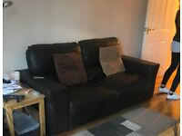 2 leather sofas 2 seater