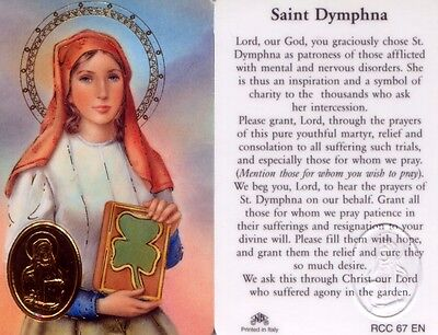 Mental Nervous Disorders St Dymphna Sick Illness Wallet Prayer Card Rcc67e