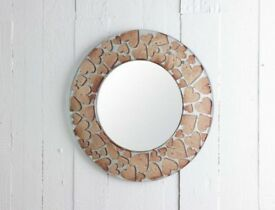Jo Downs Copper Hearts Mirror Glass Christmas Present Worth £150