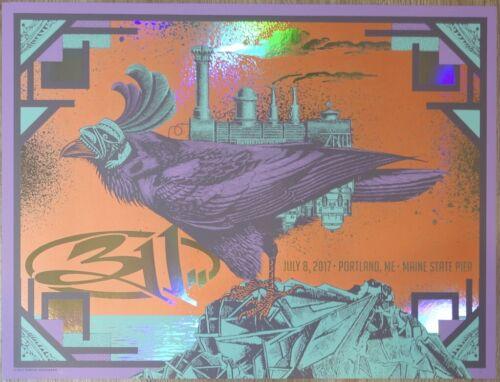 2017 311 - Portland Foil Variant Silkscreen Concert Poster by Status s/n