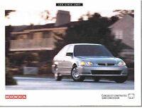 AMATEUR DE HONDA CIVIC- Brochures originales 1997 et 2002 NEUVES