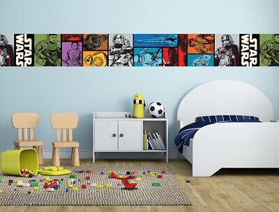 Star Wars Wallpaper Borders Stripe Self Adhesive Stickers Kids Boy Girl Bedroom