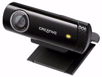 Creative Live! Cam Chat HD Webcam with Built-In Microphone ~ Easy Install, Plug in and Play ~ As New