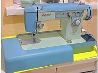UPHOLSTERY LEATHER DENIM JONES MODEL 935 SEMI INDUSTRIAL HEAVY DUTY SEWING MACHINE