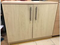 Two shelf cabinet beech finish