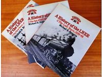 THREE VOLUMES OF A HISTORY OF THE LNER BY MICHAEL BONAVIA