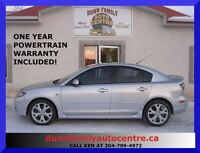 2007 Mazda MAZDA3 GT  LOADED WITH OPTIONS!