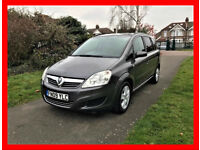2009 Vauxhall Zafira 1.6 i 16v Exclusiv 5dr --- Manual --- Part Exchange Welcome --- Drives Good