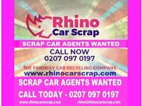 02070970197 | CAR SCRAP AGENTS WANTED ASAP | RHINO CAR SCRAP | 1200+ LEADS A WEEK