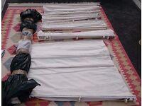 Roman Blinds, white linen, job lot 7#