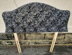 Black & Grey Single Headboard