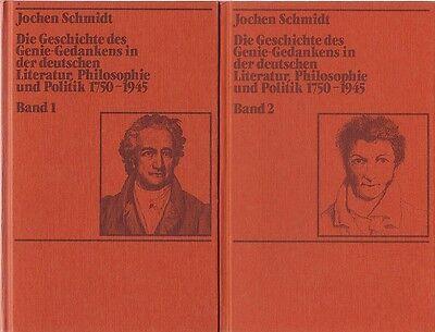 Schmidt: Geschichte des Genie-Gedankens ... 1750-1945  (2 Bde.)   1985