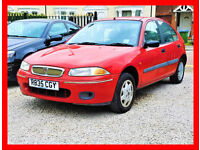 (71000 Miles)-- Rover 200 -- 1.4 Manual 5 Door -- Low Cost Car -- alike vauxhall corsa toyota yaris