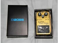 Boss SD-1 super overdrive pedal, boxed.