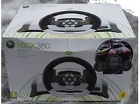 XBOX 360 Official Steering Wheel with force feedback - Boxed Rarely Used