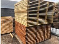🦔 Straight Top Feather Edge Tanalised Garden Fence Panels 2Ft - 6Ft