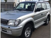 2002 02reg Toyota Landcruiser Coloado 3,0D4D LWB 133k fsh leatherseats ew em AC cd pas cruise as new