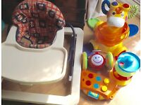 Fisher Price Giraffe Sit to Stand, Baby Walker & 3 other toys (all 5 for £5)