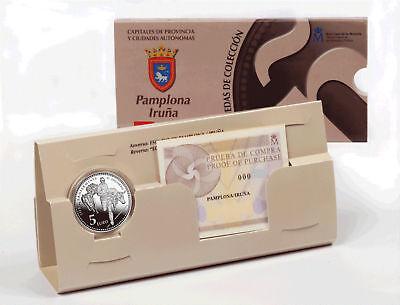 ESPAÑA 5 € plata 2010 Serie Ciudades Españolas PAMPLONA (Pamplona Series)