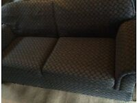 Large Marks and Spencer navy three seater sofa