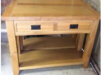 2 BARCELONA SOLID OAK CONSOLE TABLES - fully assembled - EXCELLENT CONDITION