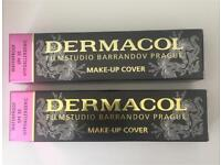 2 new 30g tubes of Dermacol make up cover , tatoo cover