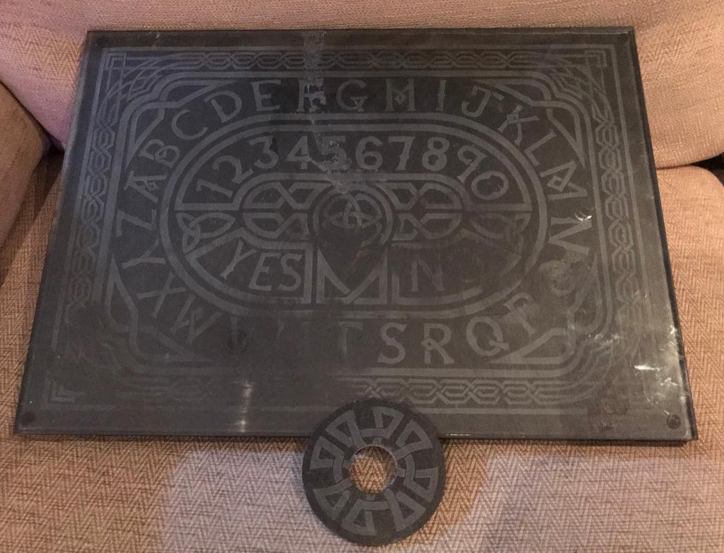 Nemesis Now Celtic Slate Spirit Ouija Board with Planchette and Glass Cover