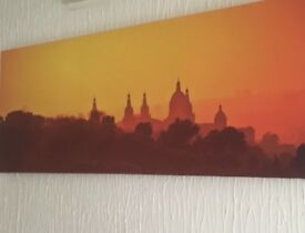 Next orange picture canvas