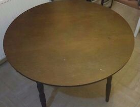 Vintage Large 111cm Dark Brown Wooden Table & 2 Chairs! Good Condition, BARGAIN REDUCED | Wood Retro