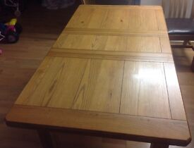 Beautiful Solid Wood (Oak) Dining Table