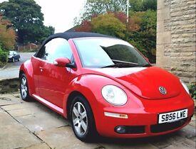 2007 VW BEETLE CONVERTIBLE TDI DIESEL RED