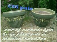 Ceramic heavy plant pots